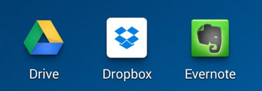 Dropbox Evernote Drive